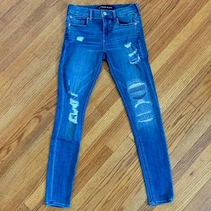 Express Legging Mid Rise Distressed Jeans